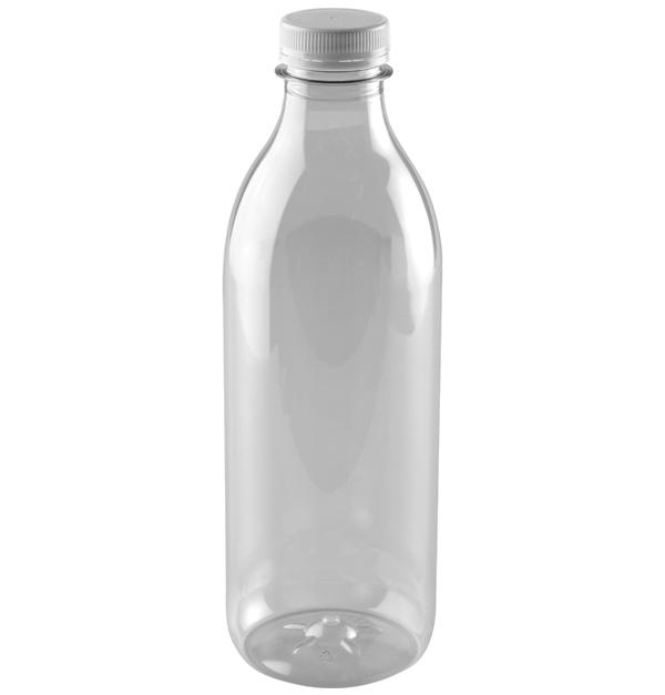 Πλαστικό διάφανο μπουκάλι 1lt