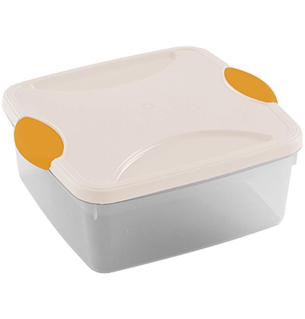 Πλαστικό λευκό φαγητοδοχείο 2lt