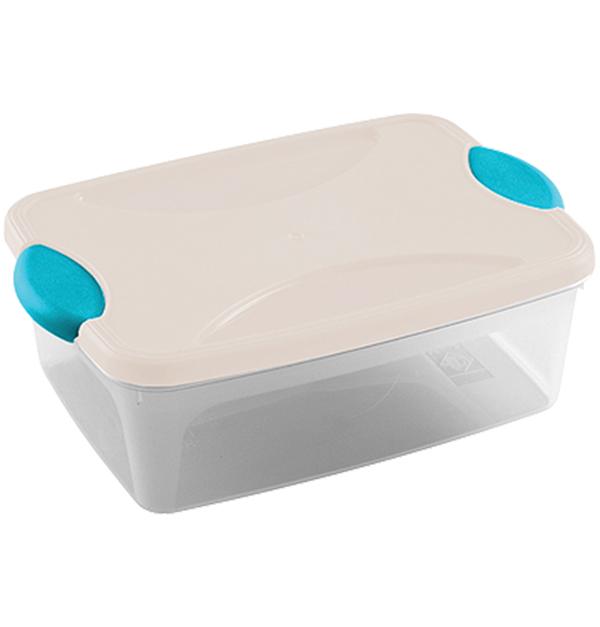 Λευκό πλαστικό φαγητοδοχείο 2lt