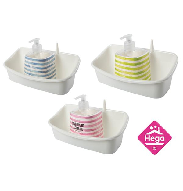 Πλαστική για σφουγγάρι κουζίνας και υγρό πιάτων με ντισπένσερ 300 ml