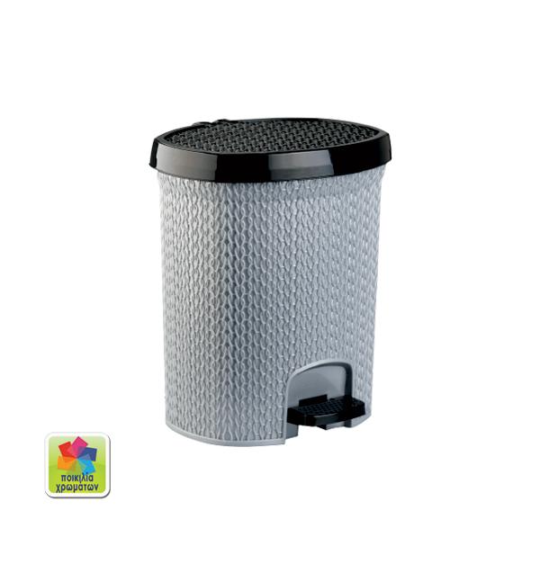 Πλαστικός κάδος απορριμάτων 20 lt μονόχρωμος