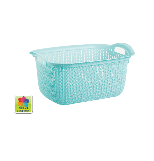 Πλαστικό καλάθι μπουγάδας 30lt