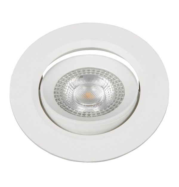 LED σπότ στρογγυλό λευκό 3000Κ