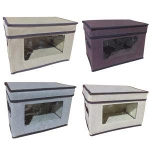 Συνθετικό πτυσσόμενο κουτί αποθήκευσης 30cm με παράθυρο [00402475]