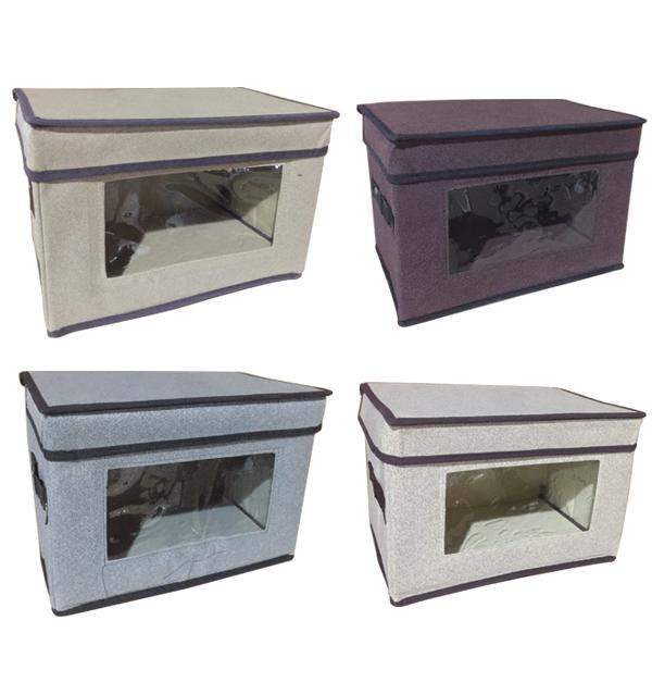 Συνθετικό πτυσσόμενο κουτί αποθήκευσης 30cm με παράθυρο