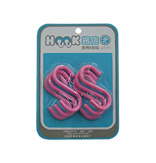 Σετ 6 πλαστικά χρωματιστά γαντζάκια 7cm