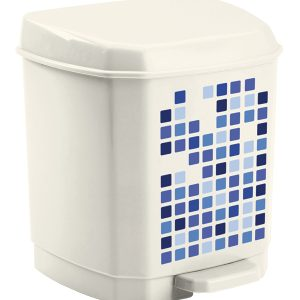 Λευκός πλαστικίος κάδος απορριμάτων πεντάλ 5lt [70607180]