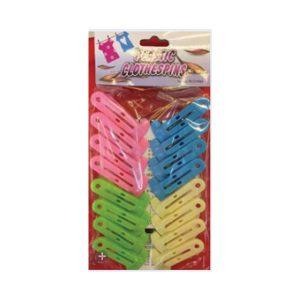 Σετ 16 πλαστικά χρωματιστά μανταλάκια [00403065]