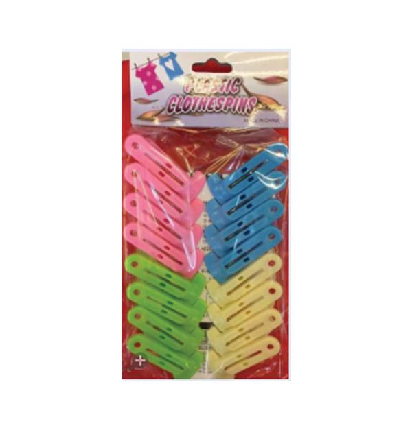 Σετ 16 πλαστικά χρωματιστά μανταλάκια