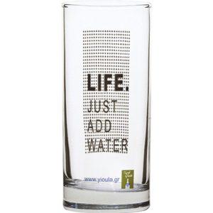 Σετ 6 ποτήρια νερού 27cl Life Just Add Water