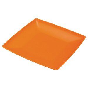 Τετράγωνο πλαστικό πιάτο φαγητού [70701200]