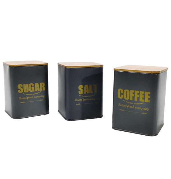 Βάζα για αλάτι, ζάχαρι και καφέ