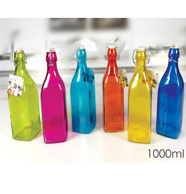 Μπουκάλι γυάλινο χρωματιστό 1lt