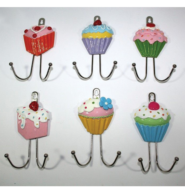 Μεταλλική κρεμάστρα Cupcake με 2 γαντζάκια