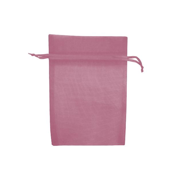 Σετ 12 υφασμάτινα ροζ πουγγιά για μπιζού