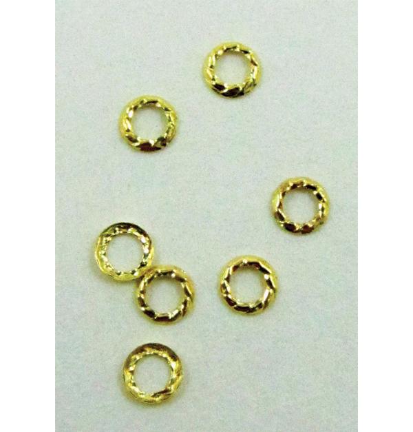 Σετ 500 μεταλλικά στρογγυλά χρυσά διακοσμητικά νυχιών