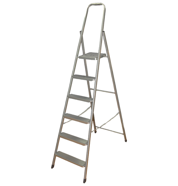 Μεταλλική σκάλα με 5+1 σκαλοπάτια