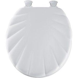 """Λευκό πλαστικό ανάγλυφο καπάκι λεκάνης """"κοχύλι"""""""