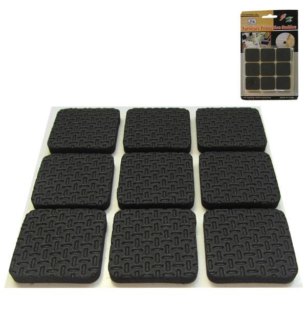 Σετ 18 τετράγωνα αυτοκόλλητα λαστιχάκια για καρέκλες, τραπέζια και κάδρα [30501354]