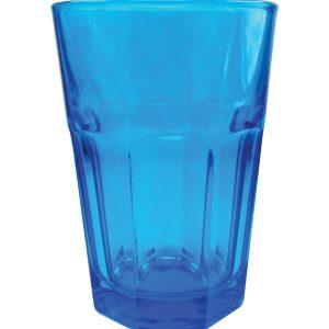 Μπλέ γυάλινο ποτήρι νερού