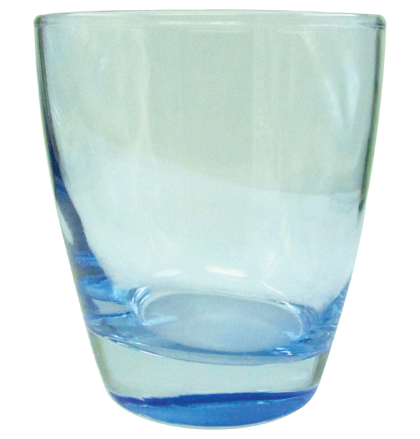 Σετ 3 μπλέ ποτήρια ουίσκι 38 cl