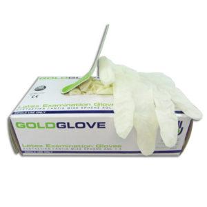 Γάντια λάτεξ μιας χρήσης με πούδρα - Medium [00402382-M]