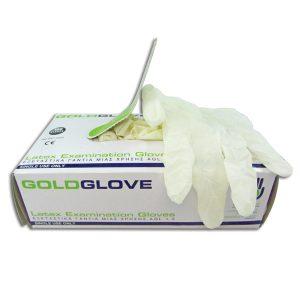 Γάντια λάτεξ μιας χρήσης με πούδρα - Large [00402382-L]