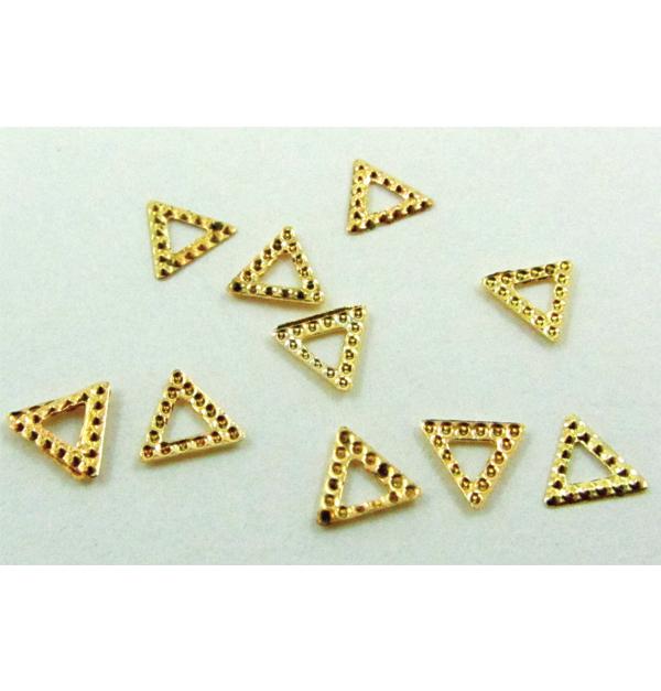 Σετ 500 μεταλλικά τρίγωνα χρυσά διακοσμητικά νυχιών