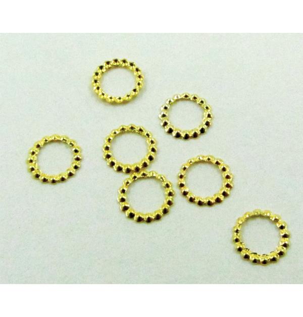 Σετ 500 μεταλλικά χρυσά διακοσμητικά νυχιών δαχτυλίδι