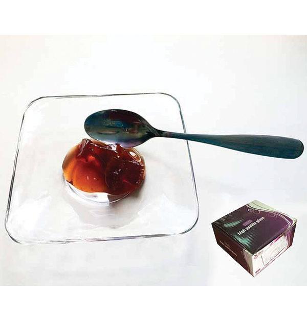 Σετ 6 τετράγωνα πιάτα γλυκού [70101660]