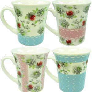 Πορσελάνινη κούπα με λουλούδια 10 cm