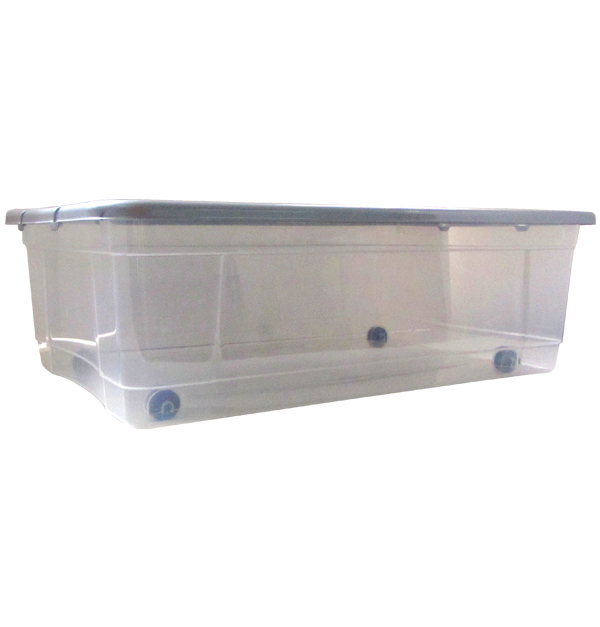 Πλαστικό κουτί αποθήκευσης 32lt με ρόδες