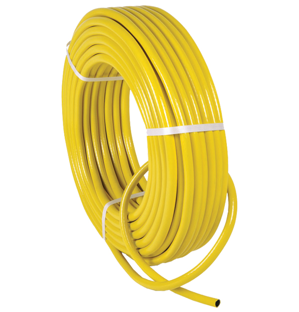 Πλεχτό κίτρινο λάστιχο ποτίσματος 25m - 1/2 ίντσα