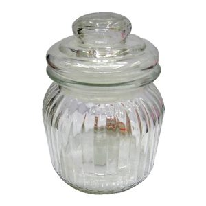 Βάζο γυάλινο με πώμα 14,5 cm [00103204]