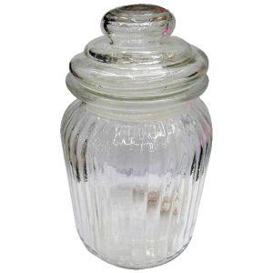 Βάζο γυάλινο με πώμα 19,5 cm [00103205]