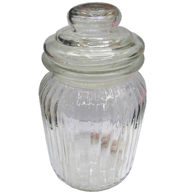 Βάζο γυάλινο με πώμα 22,5 cm