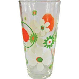 Σετ 6 γυάλινα ποτήρια νερού - Λευκά λουλούδια