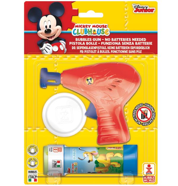 Μηχανικό πιστόλι με σαπουνόφουσκες Mickey