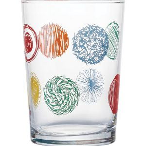 Σετ 3 γυάλινα ποτήρια νερού Circles 51cl
