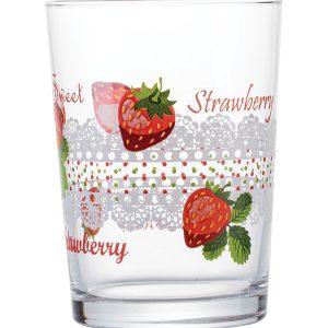Σετ 3 γυάλινα ποτήρια νερού Fruits 51cl