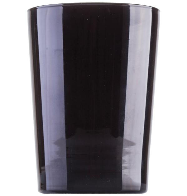 Μαύρο γυάλινο ποτήρι νερού 51cl