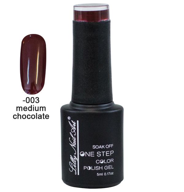 Ημιμόνιμο μανό one step 5ml - Medium Chocolate