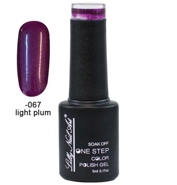 Ημιμόνιμο μανό one step 5ml - Light plum