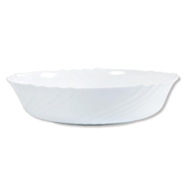 Στρογγυλή ρηχή σαλατιέρα οπαλίνα 28 cm [00204006]